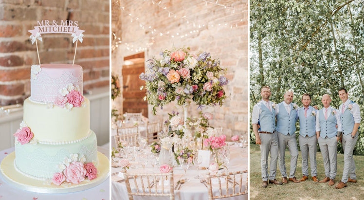 Pretty pastel wedding colour scheme