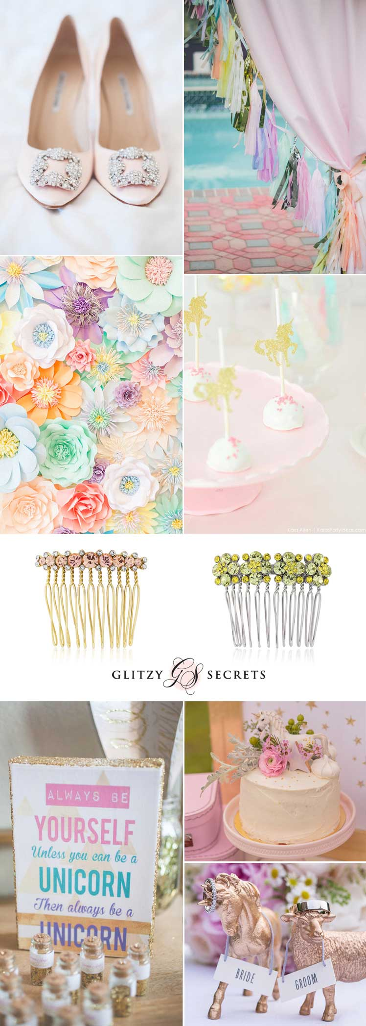 Ideas for a magical pastel unicorn wedding theme