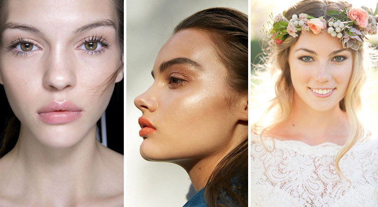 Peach and coral make-up ideas for brides