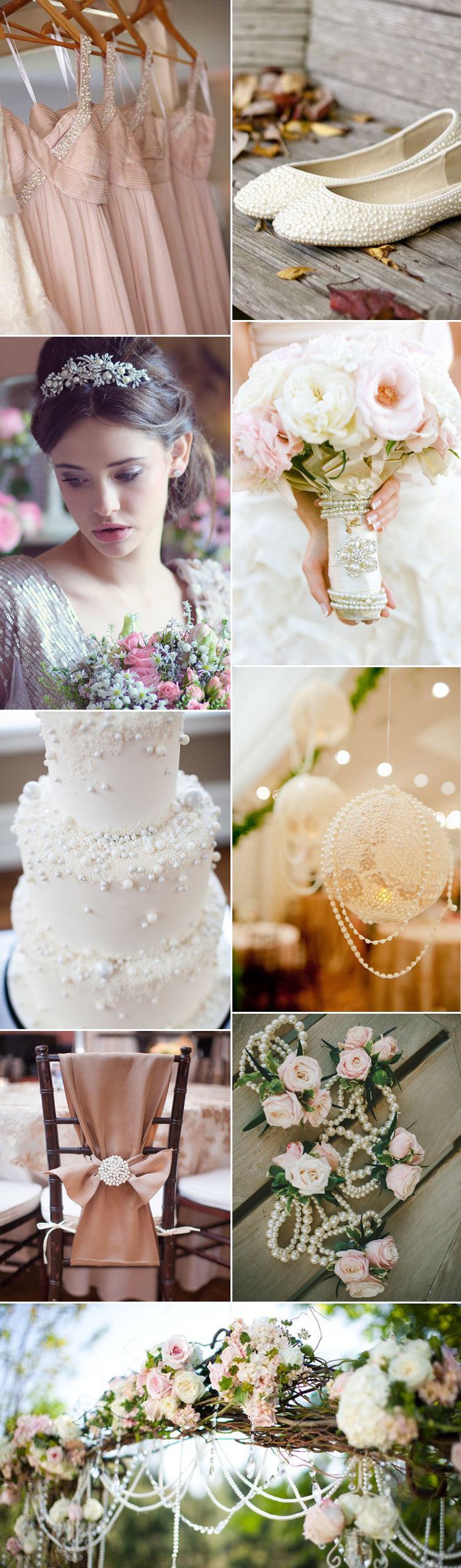 June's birthstone pearl wedding theme