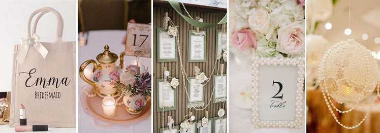 Pearl decor ideas for your wedding reception