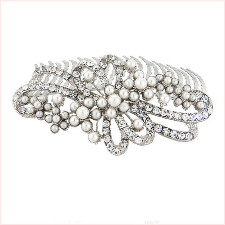 Collection of pearl wedding hair combs
