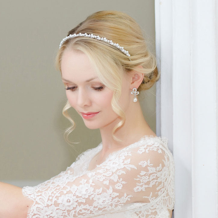 Shimmering Vintage Pearl Wedding Headbands