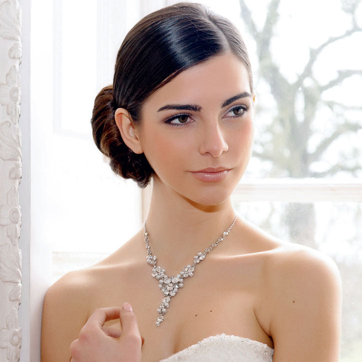 Range of pearl wedding necklaces for brides
