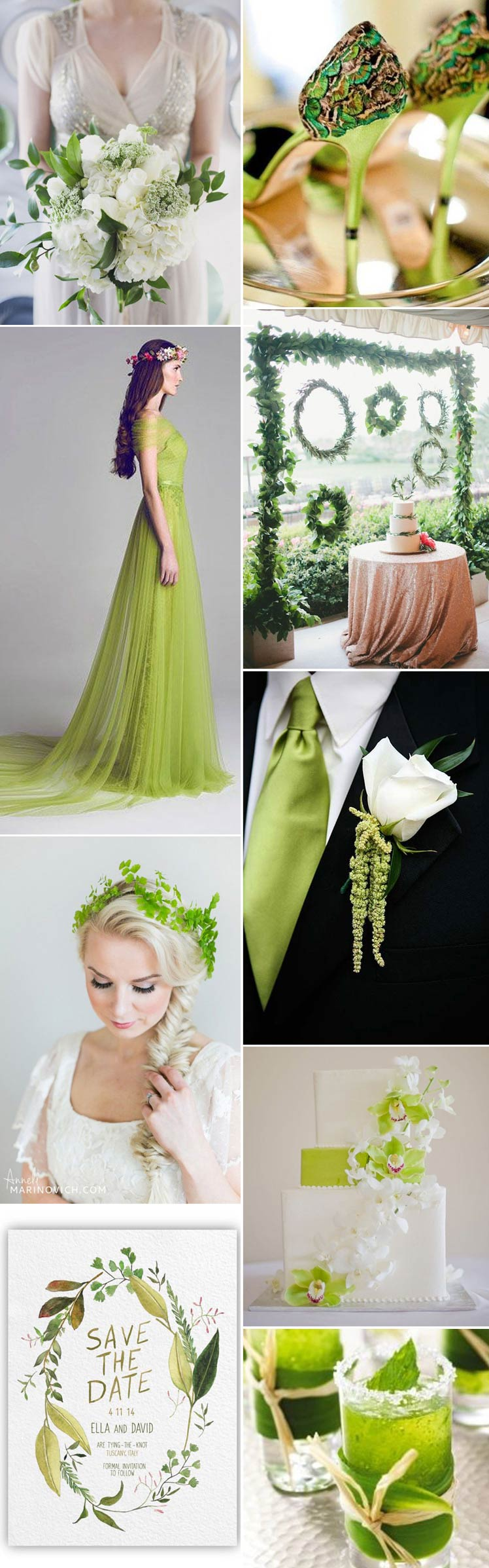explore the lushness of a peridot wedding theme