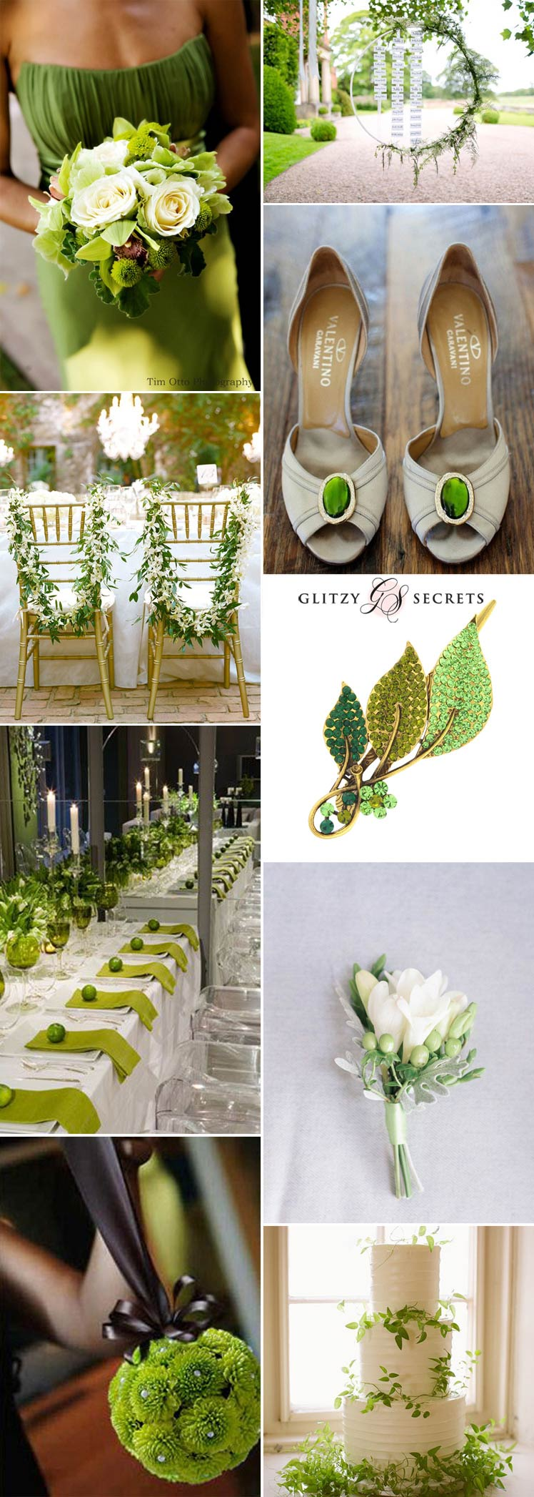 gorgeous green peridot wedding inspiration
