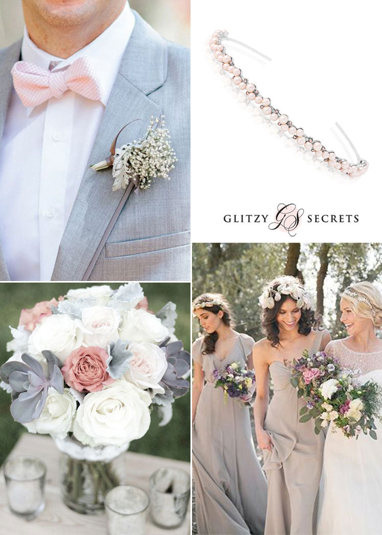 pink and dove grey wedding ideas for an Autumn celebration