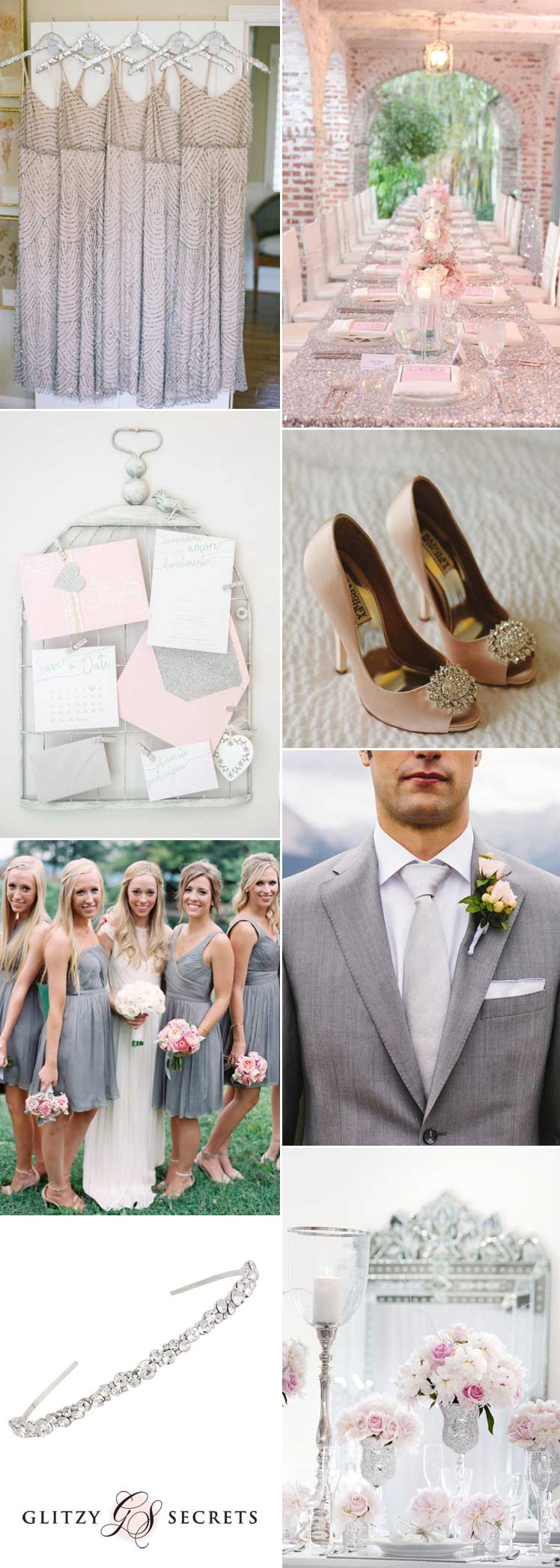 fabulous pink and silver wedding ideas