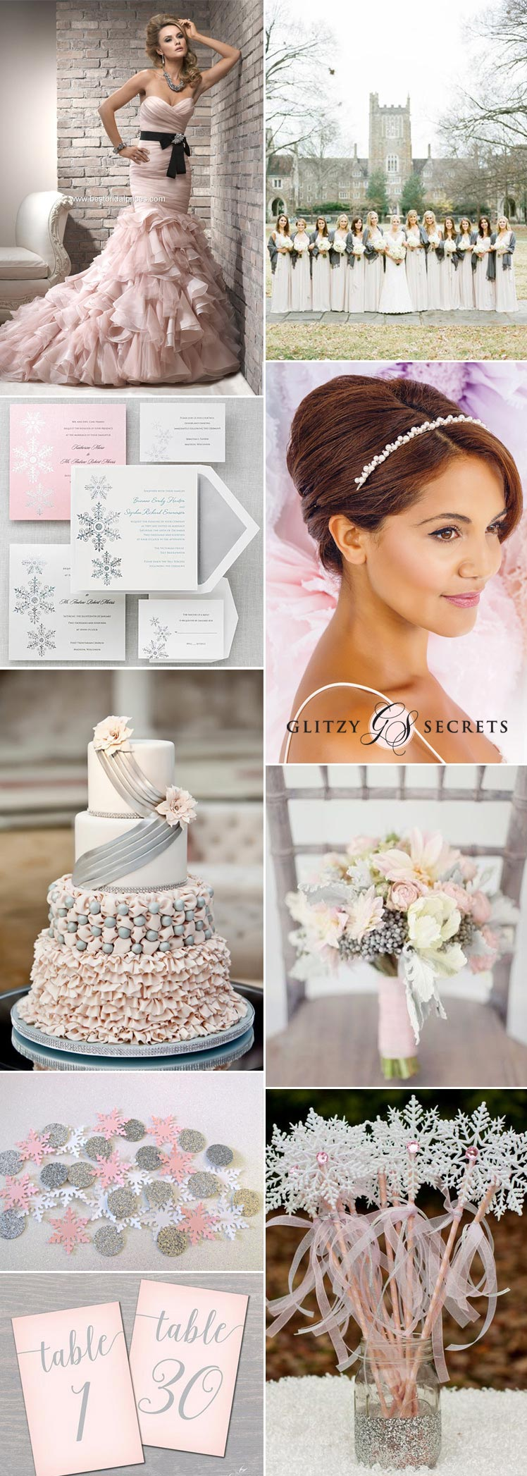 fabulous pink and silver winter wonderland wedding ideas
