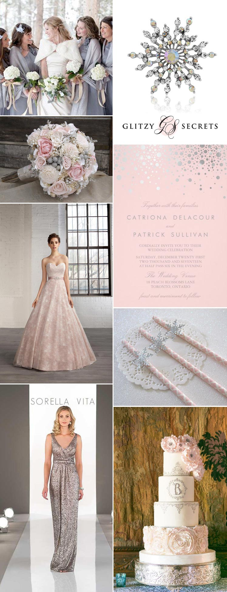 beautiful pink and silver wonderland wedding ideas