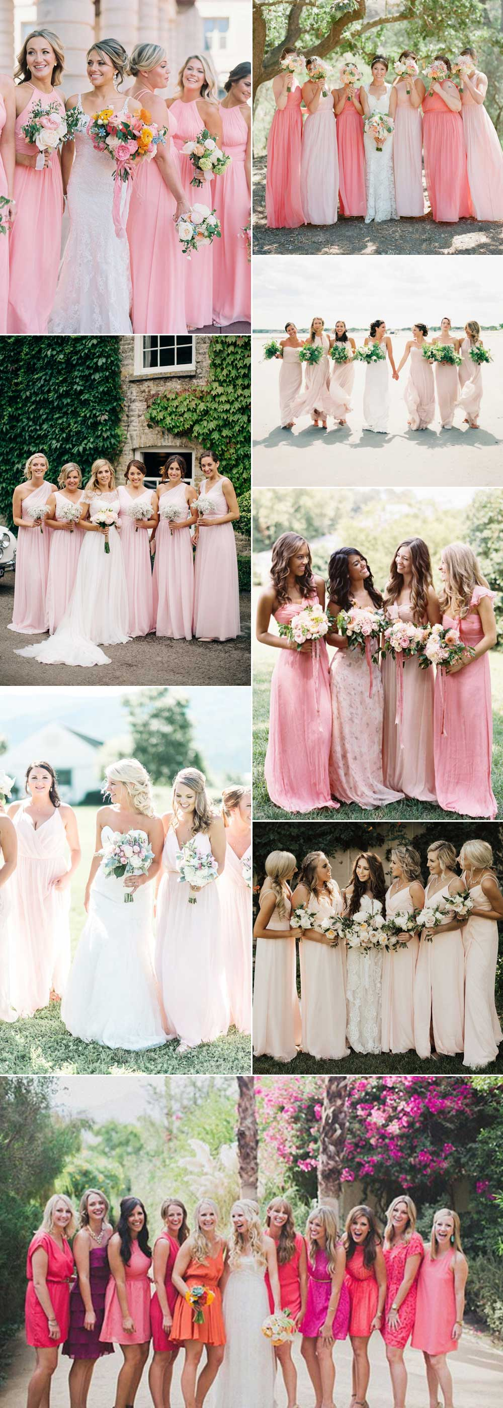 Bridesmaid dresses pink