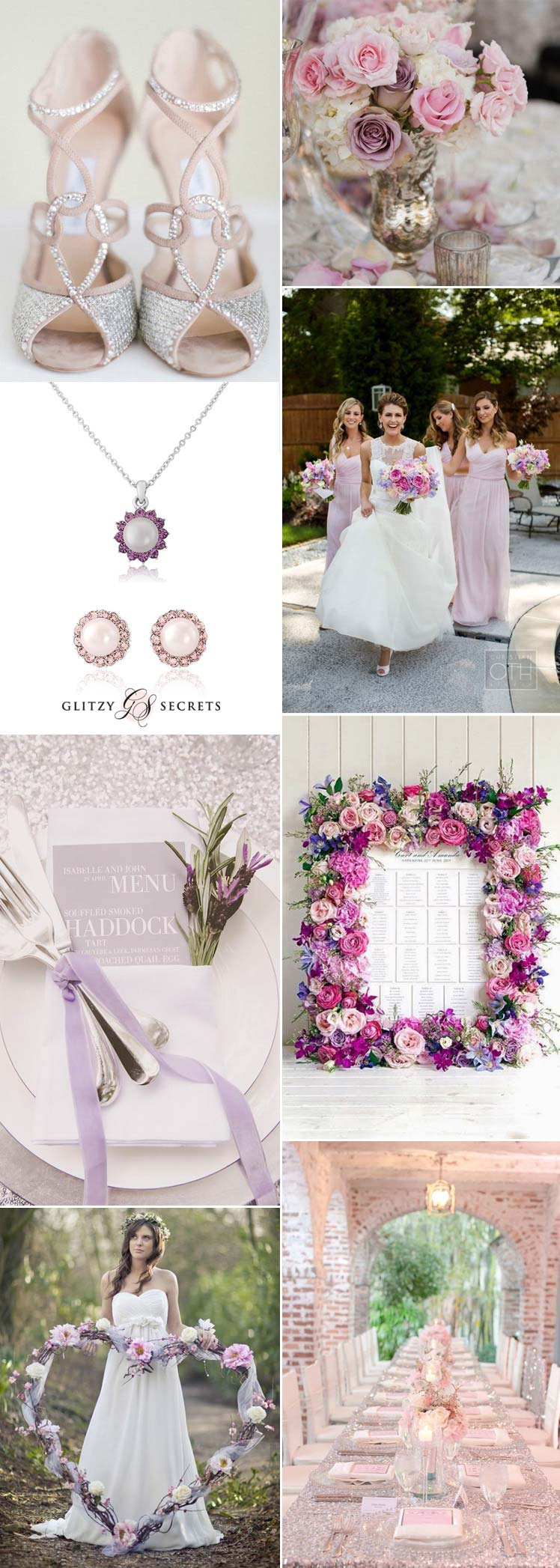 the prettiest wedding theme - pink, lilac and silver