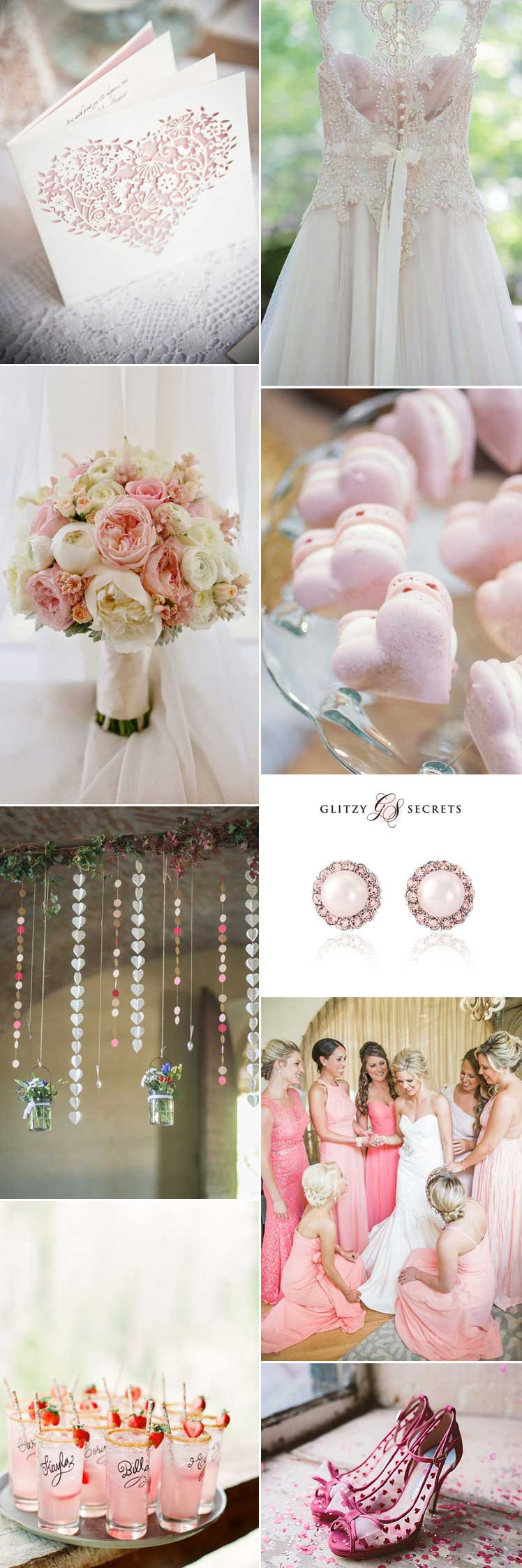 wonderfully pink - valentine wedding ideas with hearts