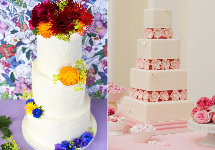 Pretty floral wedding cake ideas