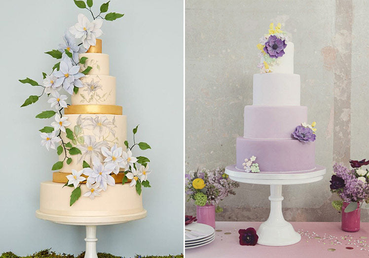 Pretty floral cakes for weddings ideas