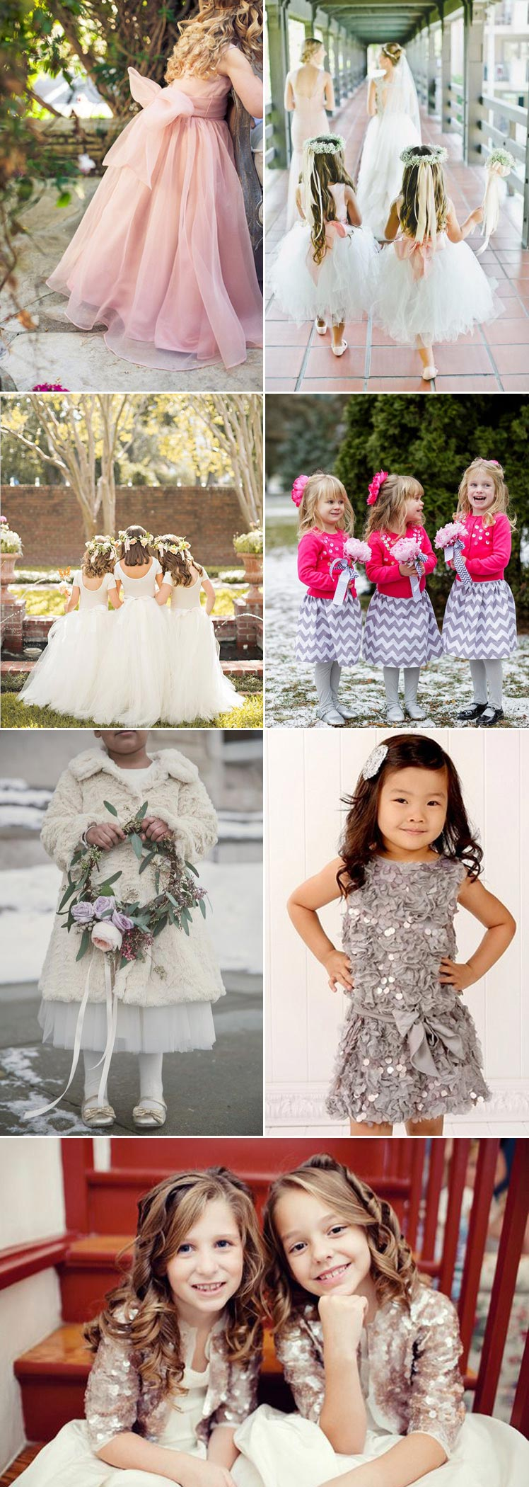 Pretty bridesmaid dress ideas for your flower girls
