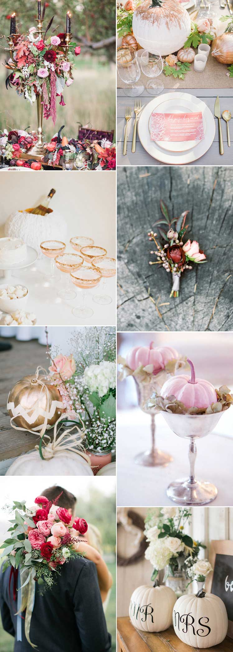 Halloween wedding ideas with a pretty style