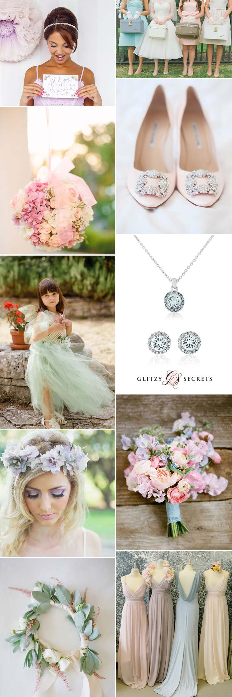 Bridesmaid inspiration for a pastel wedding theme