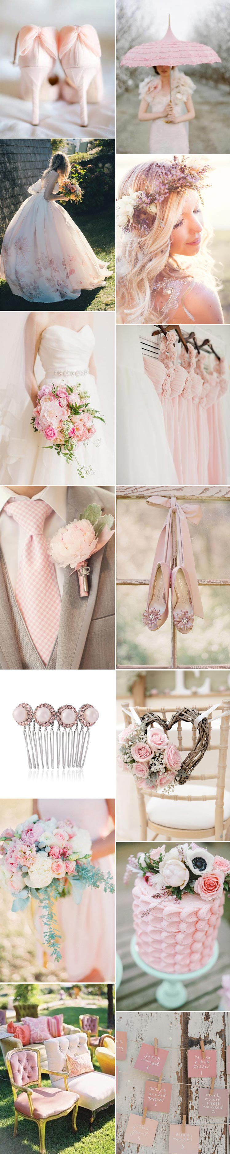 Perfect pink inspiration for your wedding colour scheme