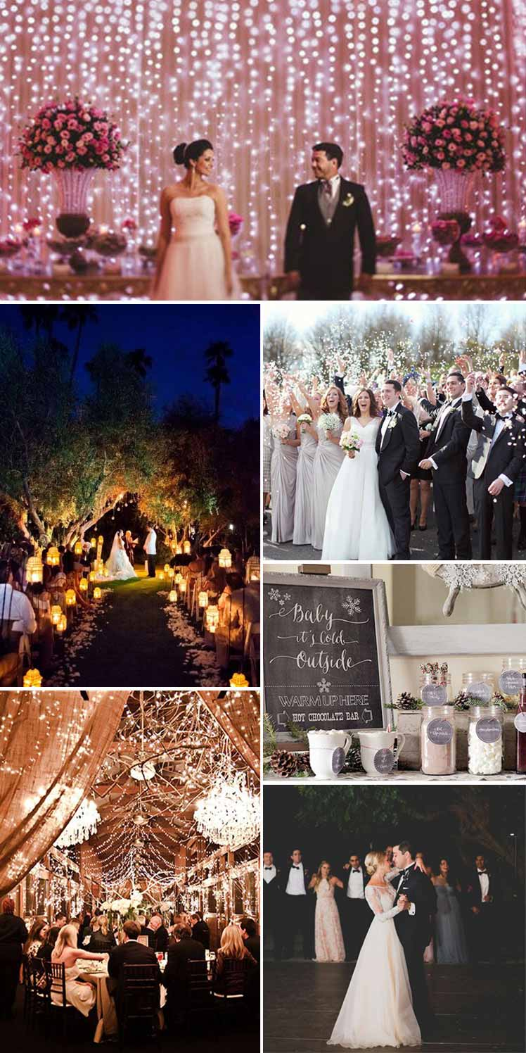 inspirational ideas for an evening wedding