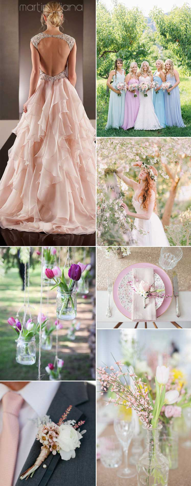 be inspired by spring blooms for your wedding day
