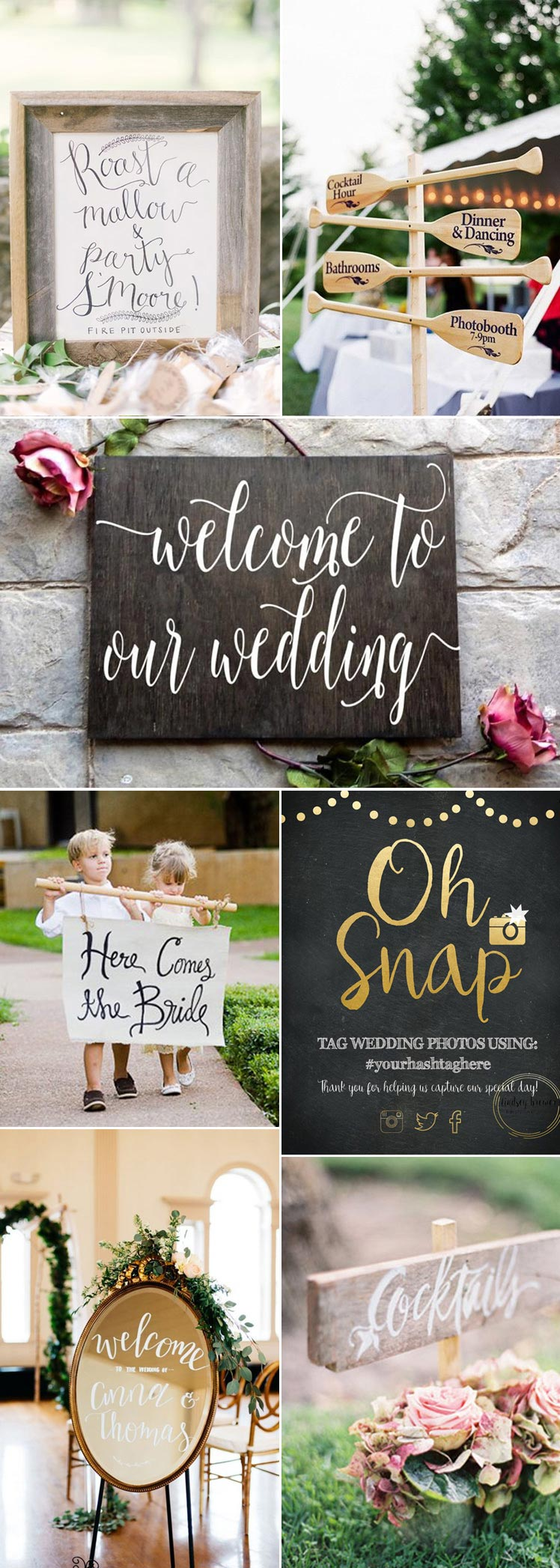 pretty wedding signs for your special day