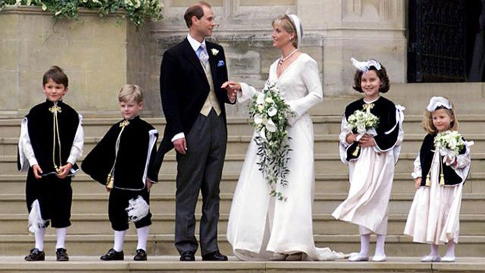 Prince Edward and Sophie's bridesmaids