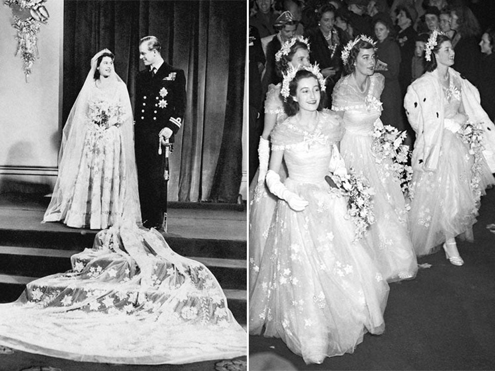 Queen Elizabeth II bridesmaids