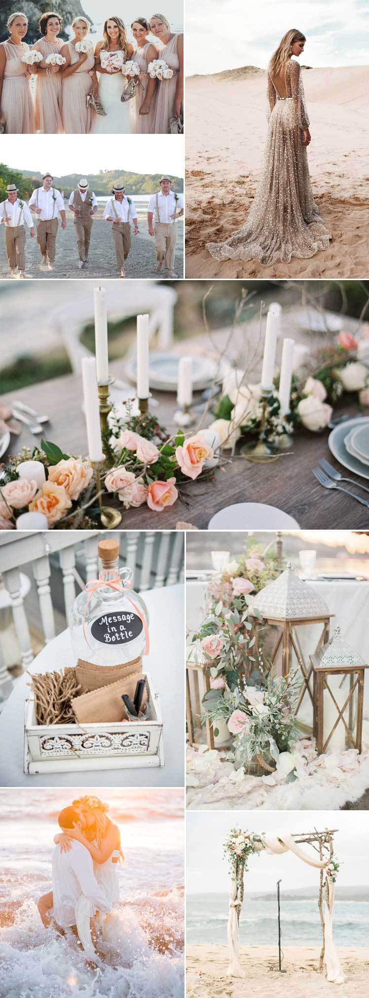inspiration for a romantic beach wedding