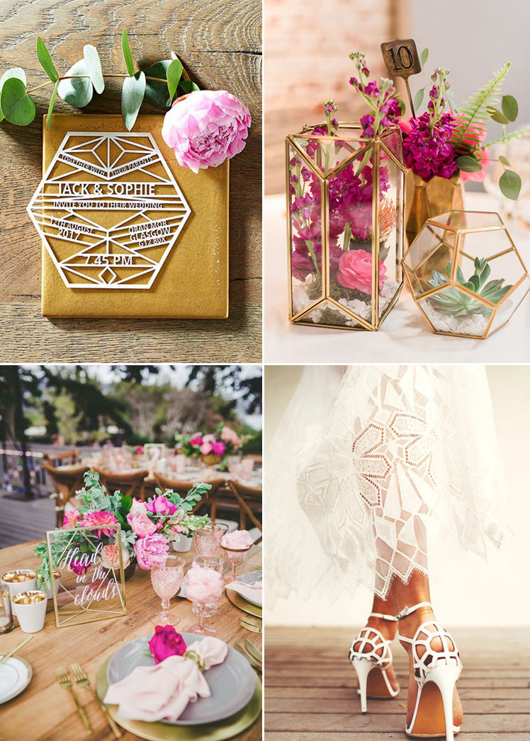 romantic geometric wedding ideas