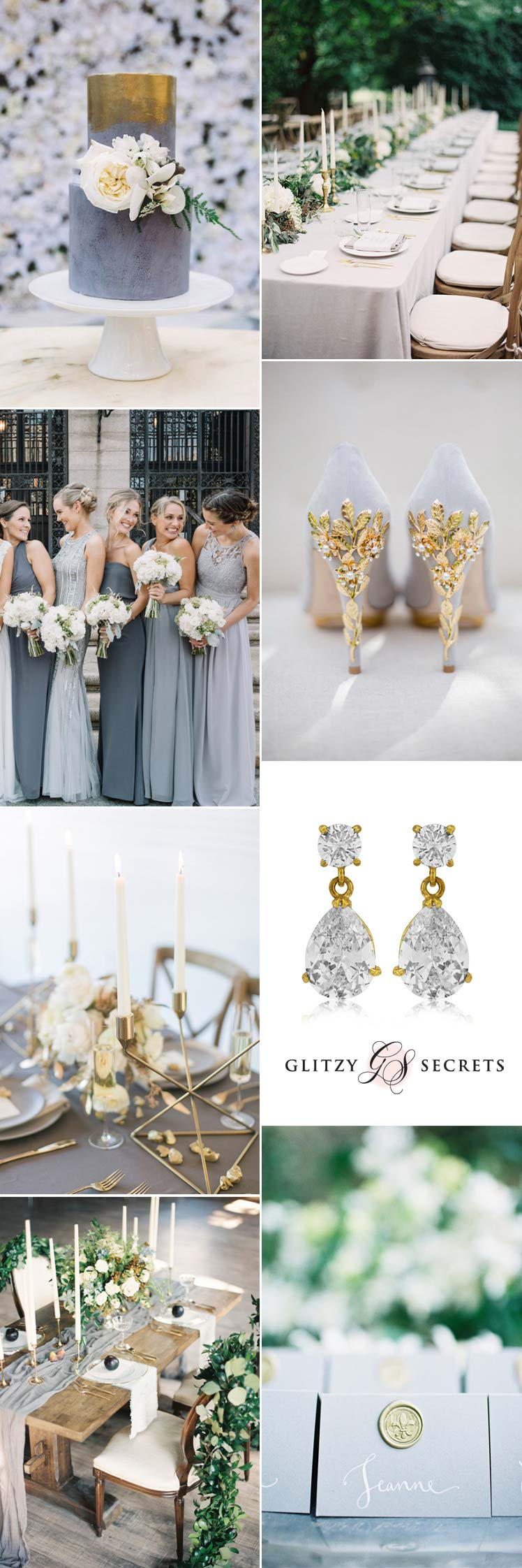 Gold and grey wedding inspiration