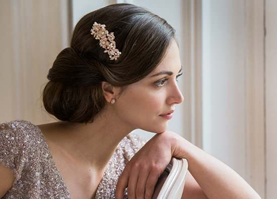 Rose gold wedding accessory collection for brides