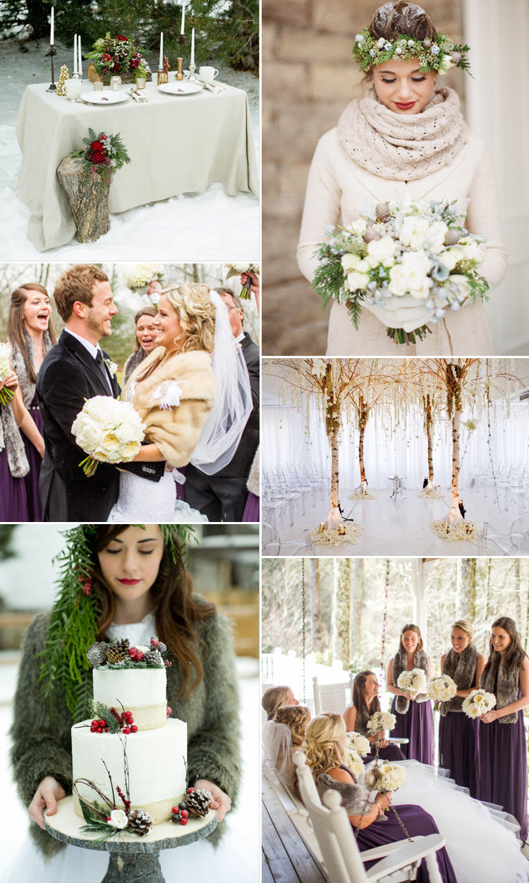 Be inspired for a winter rustic wedding