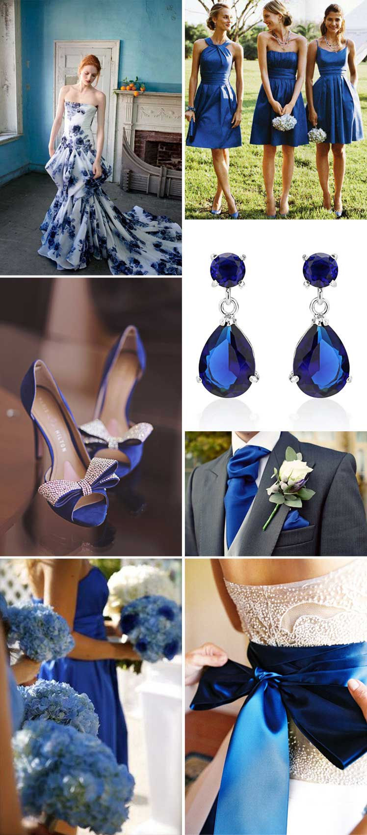 Sapphire style for the bride and wedding party