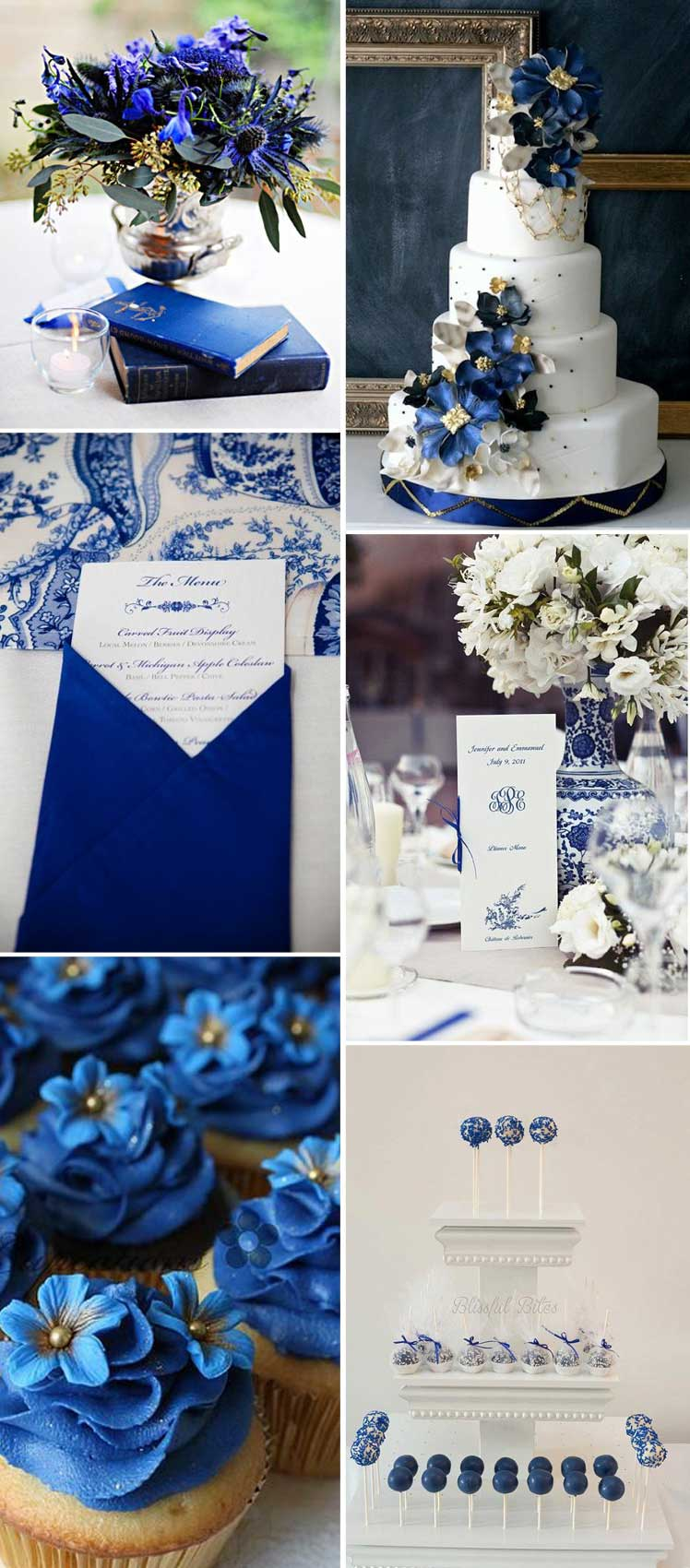 Sapphire wedding reception details