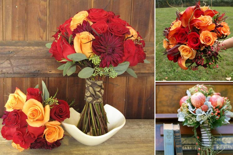 Red Roses and Seasonal Fruits for September Bouquets