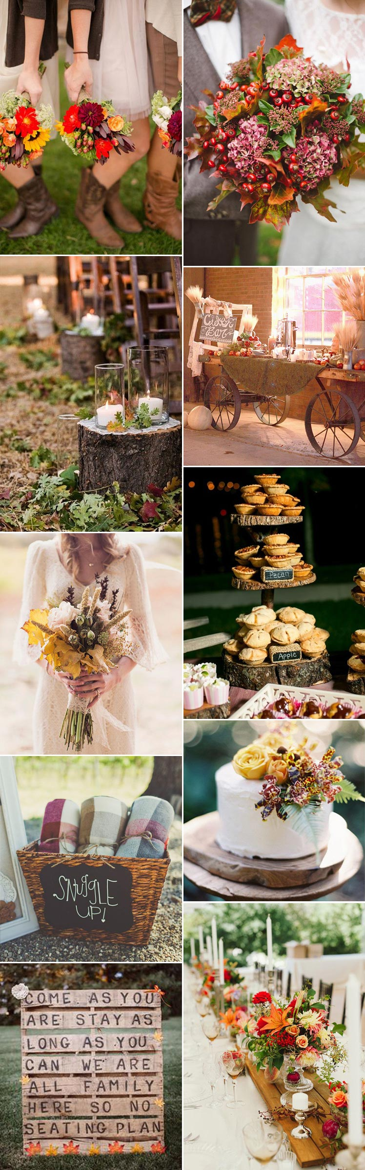 explore autumn ideas for a fall wedding