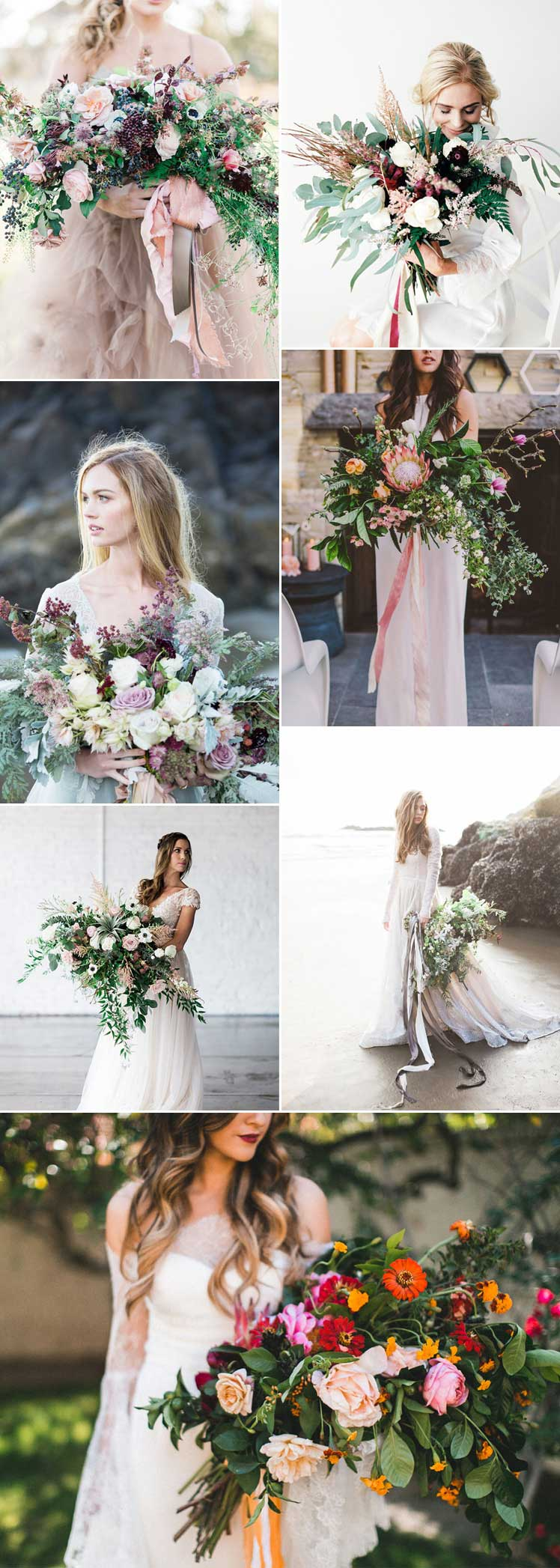Statement oversized bridal bouquets