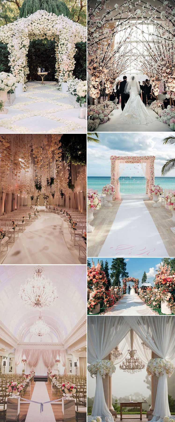 beautifully lavish wedding aisles
