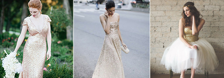 Sequin Wedding Dresses