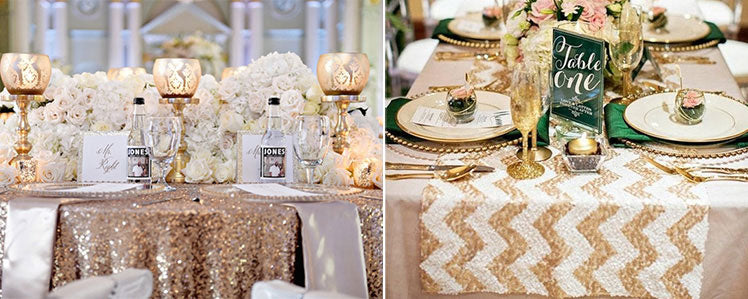 Sequin Wedding Table Cloth Ideas