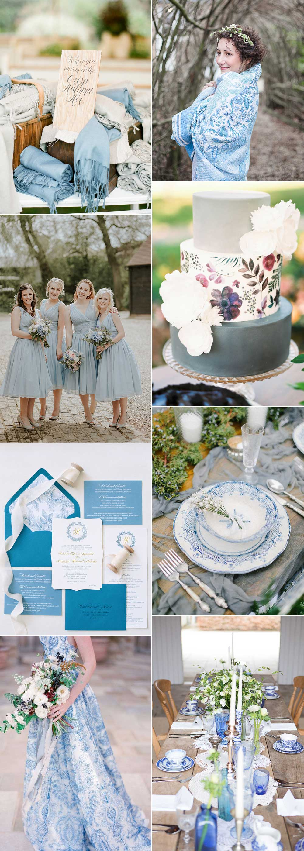 China blue wedding ideas