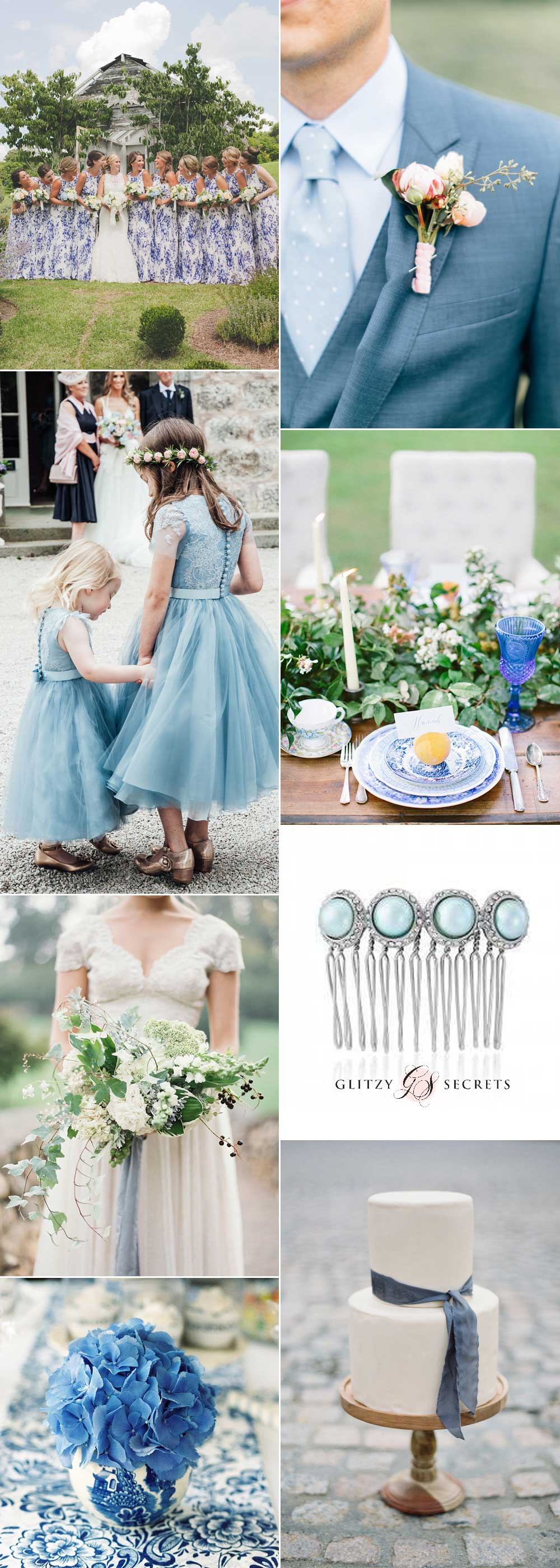Shades of blue wedding inspiration