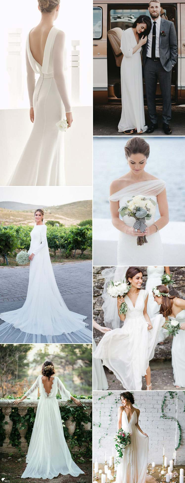 elegant and plain wedding dresses