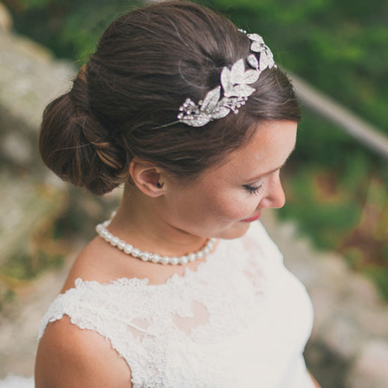 Skye wears Vintage Wreath Tiara by Glitzy Secrets