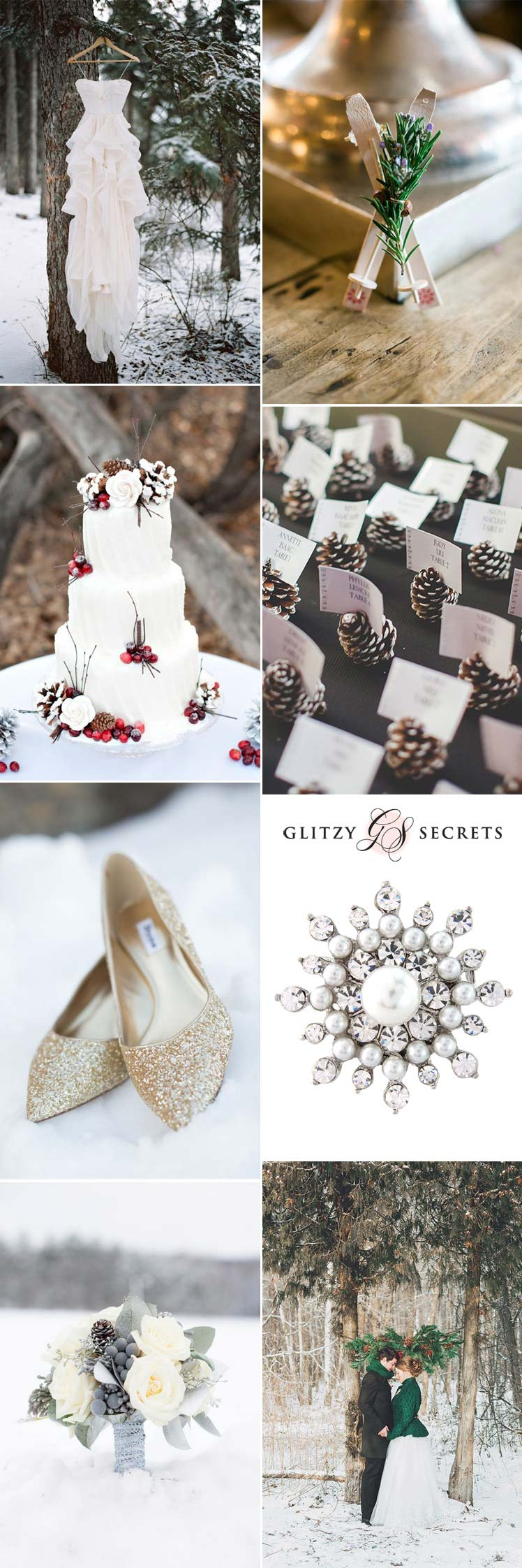 Snow wedding inspiration for your winter day