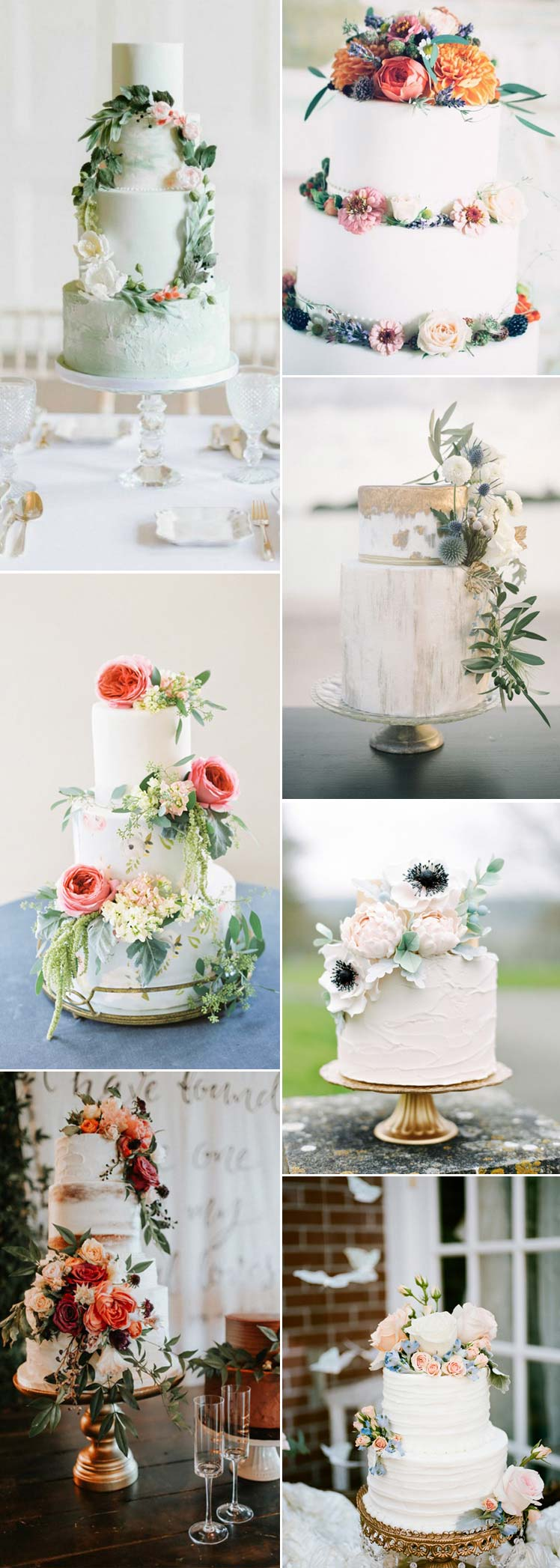 divine wedding cakes with flowers