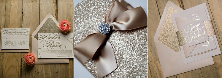 Sparkling Glitter Wedding Invitations