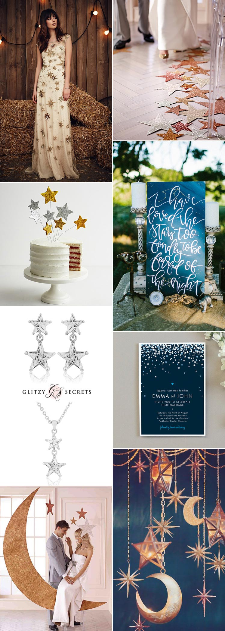 a sensational star wedding theme