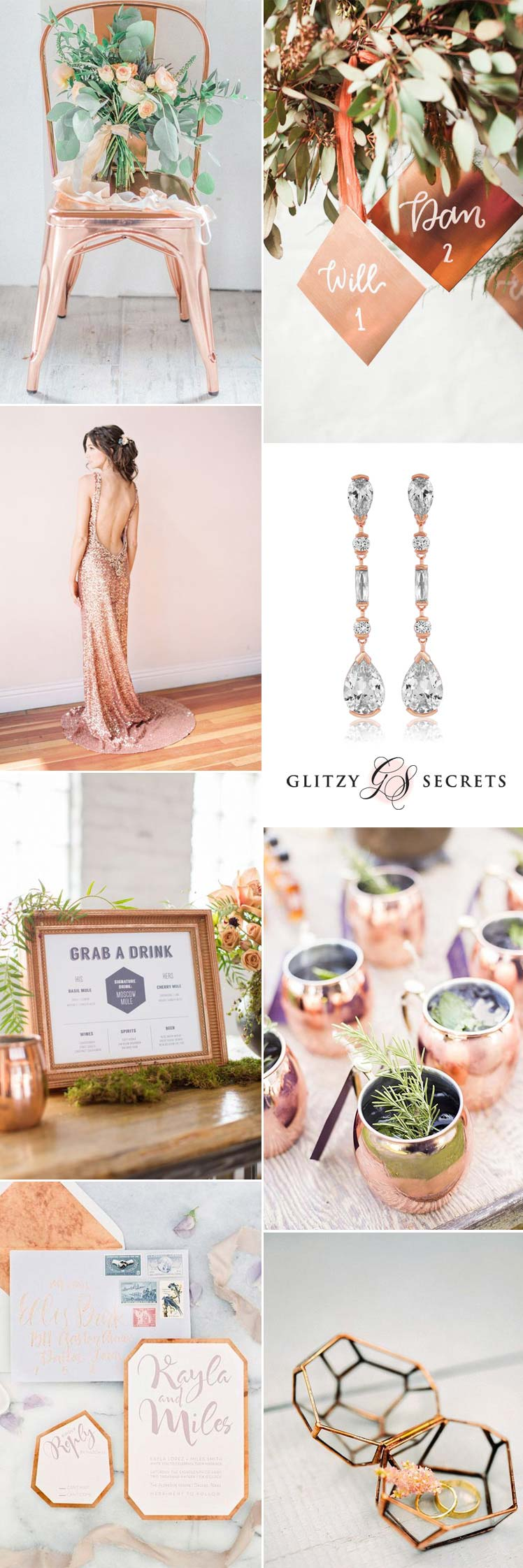 a beautiful copper wedding theme